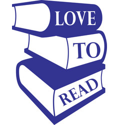 Love to read books vector