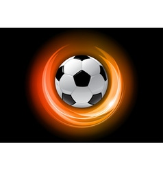 Football neon light dark orange vector