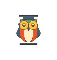 Owl in Mantle Logo vector image