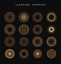 Set of lighting isolated effect vector
