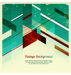 Abstract retro geometric vector