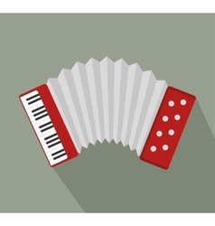 Accordion music instrument design vector