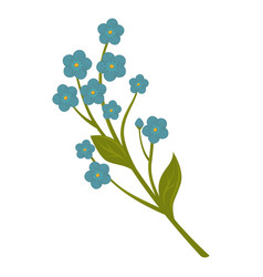 beautiful blue flower vector image vector image