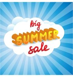 Big summer sale tag vector image vector image