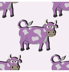 Cartoon cow seamless vector