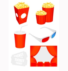 Cinema icon collection vector image