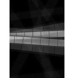 Dark monochrome filmstrip abstract background vector