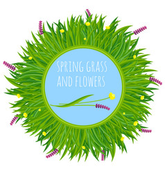 Fresh green spring frame vector