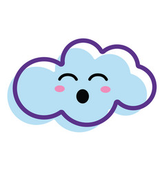 Kawaii fanny cloud icon vector