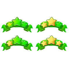 level complete ranking banners with stars vector image vector image