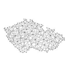 Map of czech republic from polygonal vector