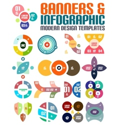 Modern geometrical abstract infographic templates vector image