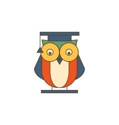 Owl in mantle logo vector