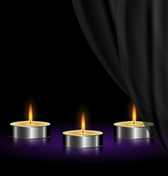 sad candles vector image vector image