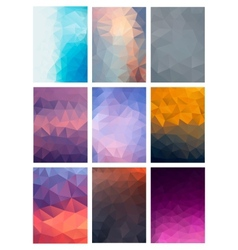 Set Abstract Modern Poligonal Background vector image