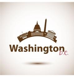 silhouette of Washington DC USA vector image