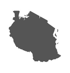 Tanzania map black icon on white background vector