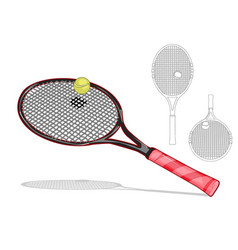 Tennis racket set vector