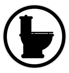Toilet button on white vector image