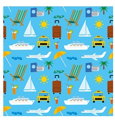 tropical travel pattern vector image vector image
