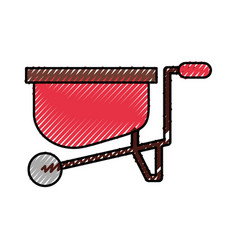 wheelbarrow farm isolated icon vector image