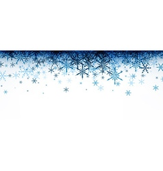 Winter banner with blue snowflakes vector image vector image
