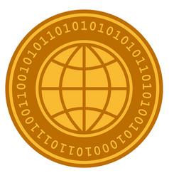 World digital coin vector
