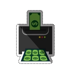 Money printing machine vector