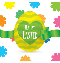 easter greeting card design vector image