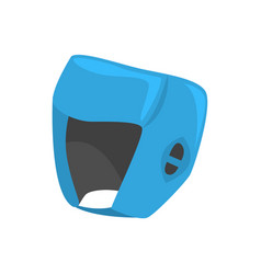 Blue boxing helmet to protect the head colorful vector