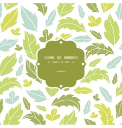 Leaves silhouettes frame seamless pattern vector
