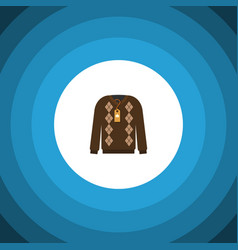 Isolated sweater flat icon pullover vector