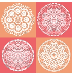 Elegant lace doily backgrounds vector