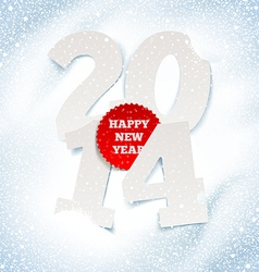 2014 new year holidays greeting with paper numbers vector image vector image