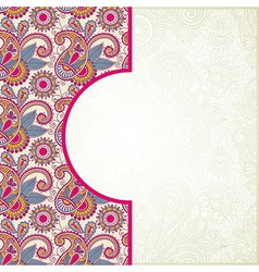 Pink ornamental pattern vector