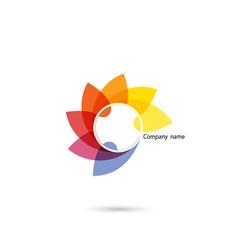 Creative abstract logo design template vector
