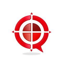 red target game abstract logo vector image