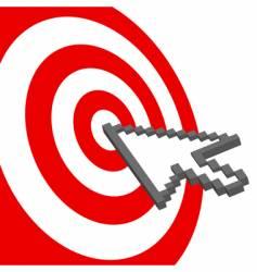 Bull's Eys target vector image