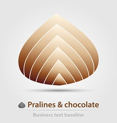 Pralines and chocolate business icon vector