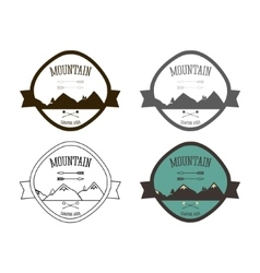 Set of mountain campsite logo templates outdoor vector