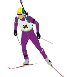 biathlon vector image