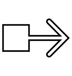 Pull arrow right contour icon vector