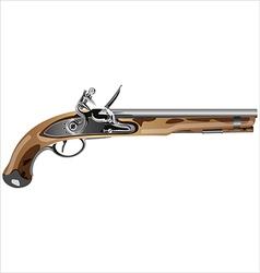 pirate pistol vector image