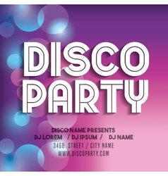 Advertising icon night party and disco vector