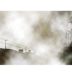 Foggy urban background vector