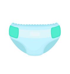 baby diaper flat cartoon vector image