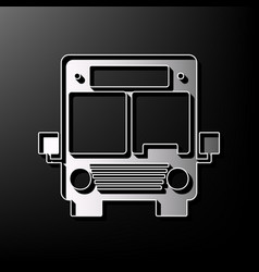 Bus sign gray 3d printed vector