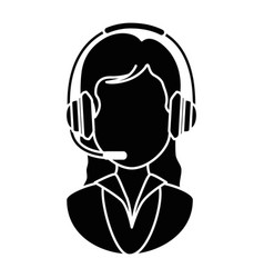 call center receptionist avatar vector image