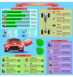 Car repair infographic set vector