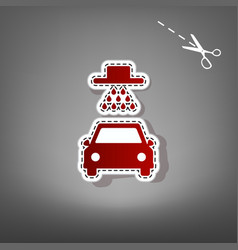 Car wash sign red icon with for applique vector